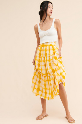 Anthropologie Angelika Tie-Dye Maxi Skirt