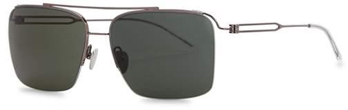 Calvin Klein Gunmetal D-frame Sunglasses