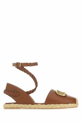 Valentino Ankle-Strap Espadrilles