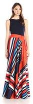 Eliza J Women's Maxi Dress with Pleated Skirt