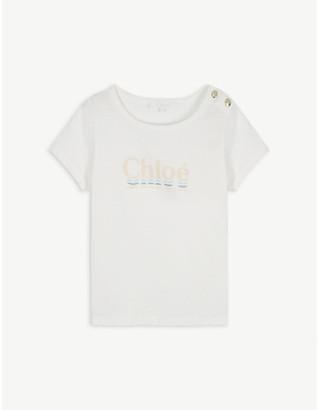 Chloé Logo-print cotton-blend T-shirt 4-14 years