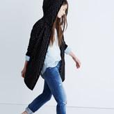 Madewell Hooded Herringbone Cardigan Sweater