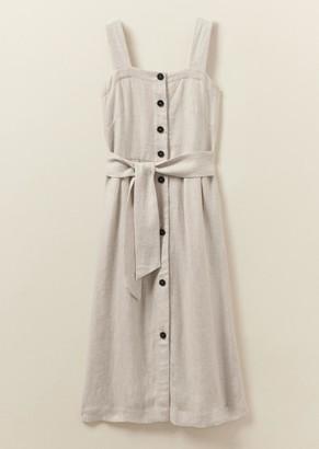 Toast Natural Linen Sun Dress - m