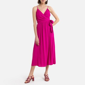 Occasion Midi Dress with Shoestring Straps
