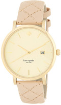 Kate Spade Women&s Metro Grand Quilted Strap Watch