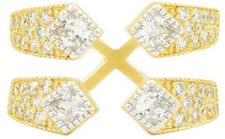 Freida Rothman Visionary Fusion Pave CZ Open Cocktail Ring