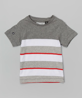 Micros Heather Charcoal Stripe Striker Tee - Toddler