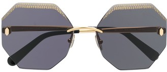 Roberto Cavalli geometric frame sunglasses