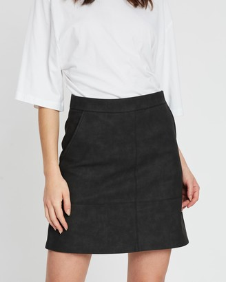 Only Onllisa Ash Faux-Leather Skirt