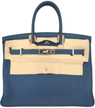 Hermes Thalassa Clemence Leather Palladium Hardware Birkin 35 Bag