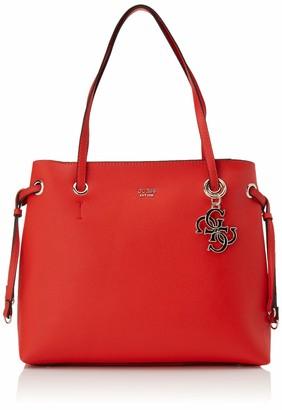 GUESS Women's Digital Charm Logo Shopper Handbag