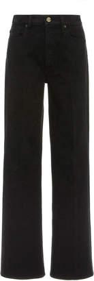 Gold Sign Kelvin Comfort Stretch High-Rise Boot-Cut Jeans
