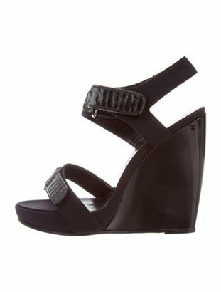 Pierre Hardy Ankle-Strap Wedge Sandals Black