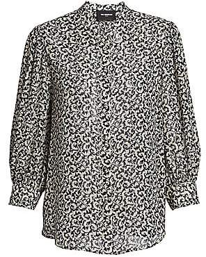 The Kooples Women's Abstract Print Silk Blend Blouse
