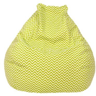 Standard 100% Cotton Bean Bag Chair & Lounger Ebern Designs Upholstery Color: Chartruese