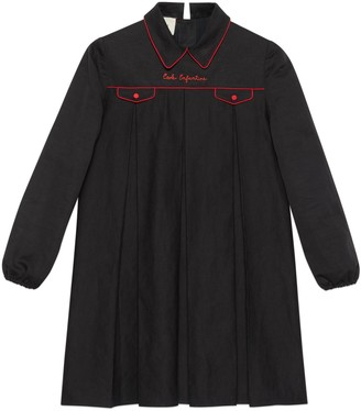 Gucci Petit cotton linen top with embroidery