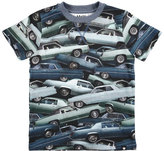 Molo Ralphie Stacked Cars Jersey Tee, Blue, Size 4-10