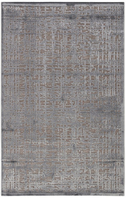 """Jaipur Living Dreamy Abstract Gray/Silver Area Rug, 8'10""""x11'9"""""""
