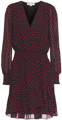 MICHAEL Michael Kors Wrap-effect Polka-dot Crepe Mini Dress
