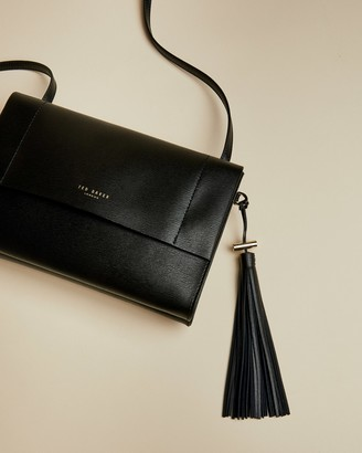 Ted Baker NATALEI Medium leather tasselled cross body bag