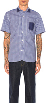 Junya Watanabe Cotton Tartan Check & Cotton Stripe Shirt