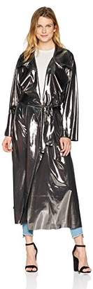 Norma Kamali Women's Dolman 80'S Flared Midcalf Trench