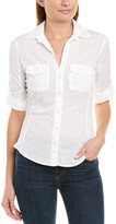 James Perse Contrast Panel Blouse