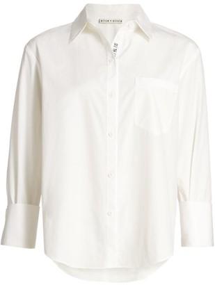 Alice + Olivia Oversized Classic Button-Up Shirt