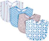 Trend Lab Blue & Gray Logan Bib - Set of Four