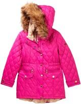 KensieGirl Glacier Shield Hooded Jacket with Faux Fur Trim (Big Girls)