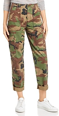 Hudson High Rise Straight Classic Jeans in Stone Camo