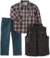 Calvin Klein 3-Pc. Shirt, Pants & Vest Set, Toddler Boys