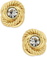 Kate Spade Infinity & Beyond Gold-Tone Crystal Knot Stud Earrings