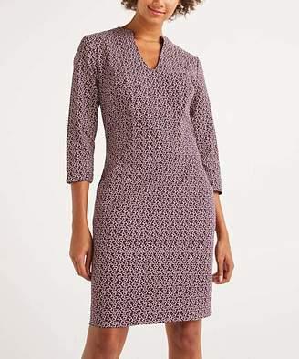 Boden Women's Casual Dresses Fig, - Fig Sweet Petal Elizabeth Pocket V-Neck Dress - Women, Women's Tall & Petite