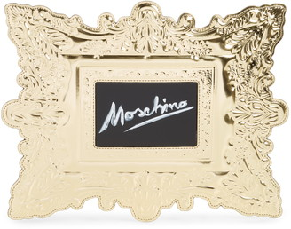 Moschino Faux Leather Frame Clutch