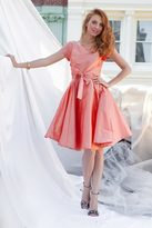 Shabby Apple West End Fit & Flare Dress Peach