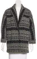 Alice + Olivia Fair Isle Knit Coat