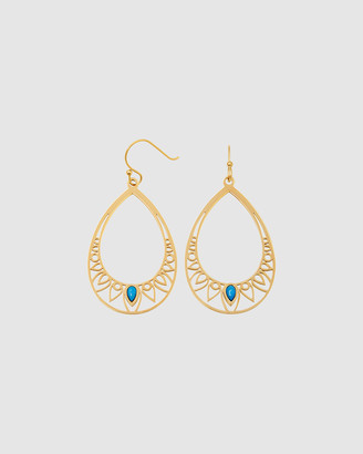 Pastiche - Women's Gold Earrings - Peacock Earrings - Size One Size at The Iconic