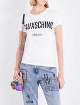 Moschino Fauxschino-print cotton T-shirt
