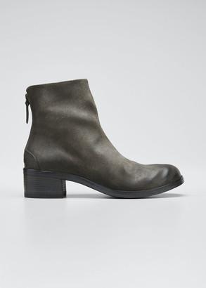 Marsèll Listo Rustic Leather Zip Booties