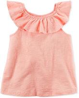 Carter's Ruffle-Neck Cotton Shirt, Little Girls (4-6X) and Big Girls (7-16)