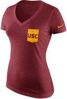 Nike Women's USC Trojans Tri Mid-V Pocket T-Shirt