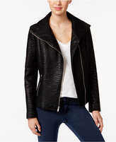 Rachel Roy Textured Faux-Leather Moto Jacket, Only at Macy's
