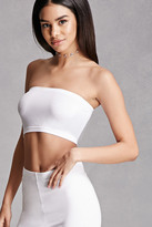 Forever 21 FOREVER 21+ Stretch Knit Cropped Tube Top