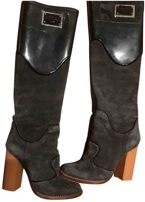 Dolce & Gabbana Black Leather Boots