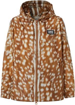 Burberry Deer Print ECONYL jacket