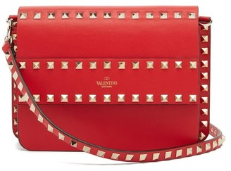 Valentino Rockstud Leather Cross-body Bag - Womens - Red