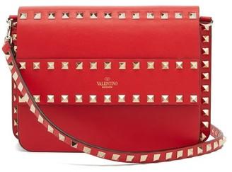 Valentino Rockstud Leather Cross-body Bag - Womens - Red