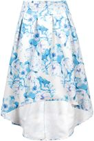 Wolfwhistle Wolf & Whistle Blue Floral Drop Hem Skirt