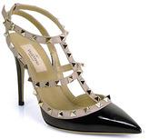 Valentino Rockstud - Black Closed Toe Studded T-Strap Heel